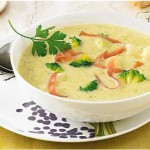 Картофельный суп с брокколи и сыром