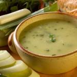 Гороховый чесночный суп-пюре