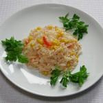 Рис с кукурузой и зеленым перцем чили