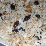 Рис острый со смородиной и миндалем