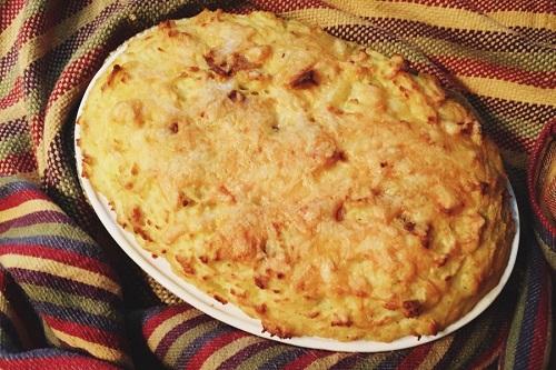 картофель на пару с сыром