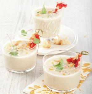 крем-суп с миндалем