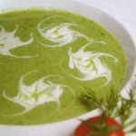 Картофельный суп-пюре со шпинатом