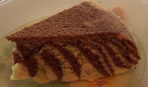 мраморный кекс в пароварке