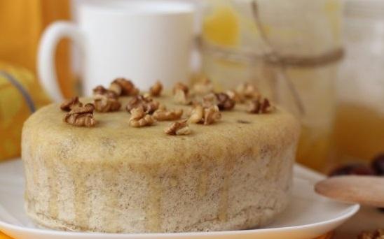 ореховый бисквит в пароварке