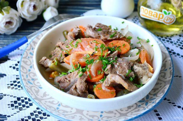 мясо в пароварке с овощами