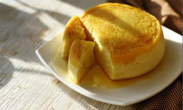 мандариновый бисквит в пароварке